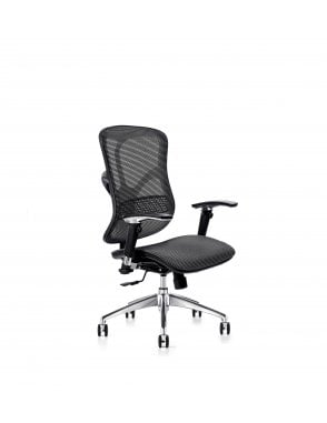 Soft Touch Black Mesh 101 Series F94 - Mesh Seat Chair