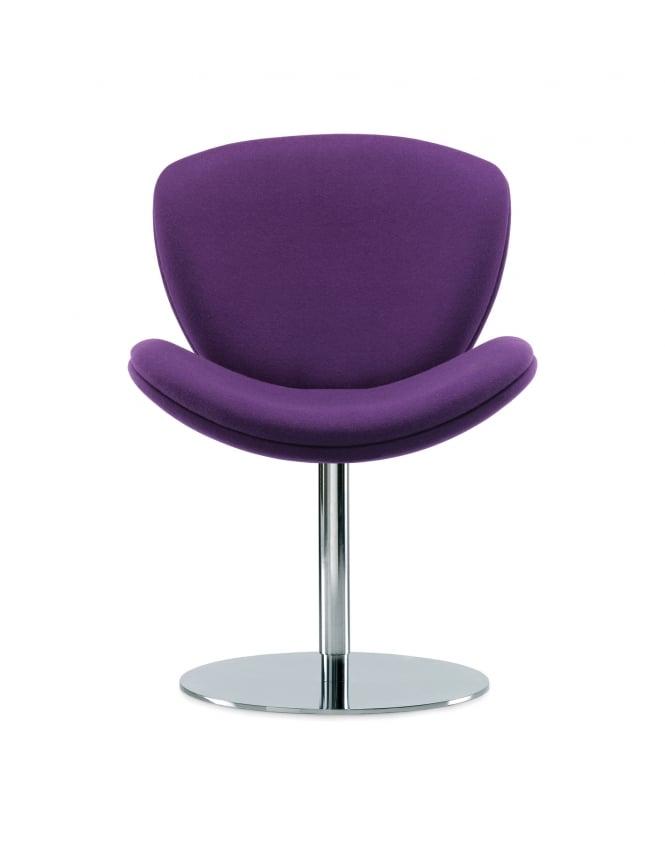Woodstock Leabank Spirit Lite Chrome Pedestal Base Chair