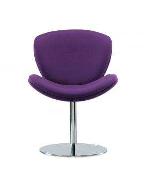 Spirit Lite Chrome Pedestal Base Chair