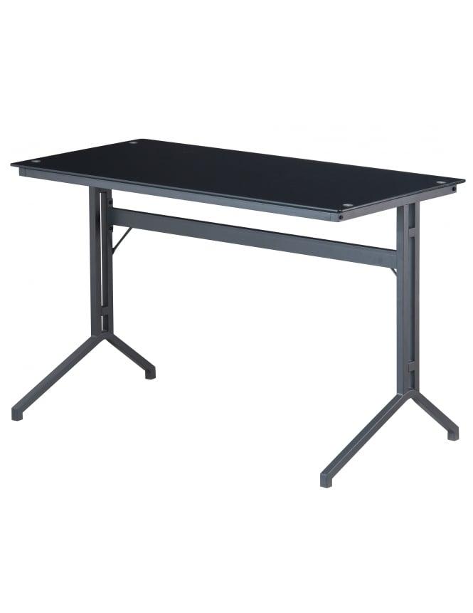 Alphason Splice Black Glass Desk