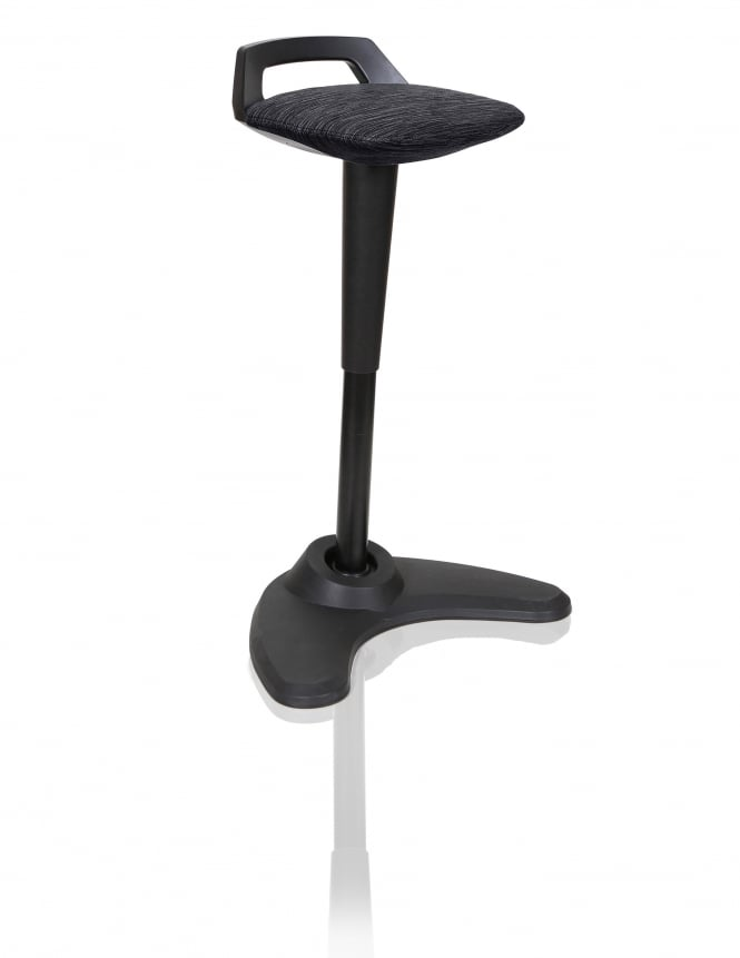 Dynamic Furniture Spry Black Fabric Stool
