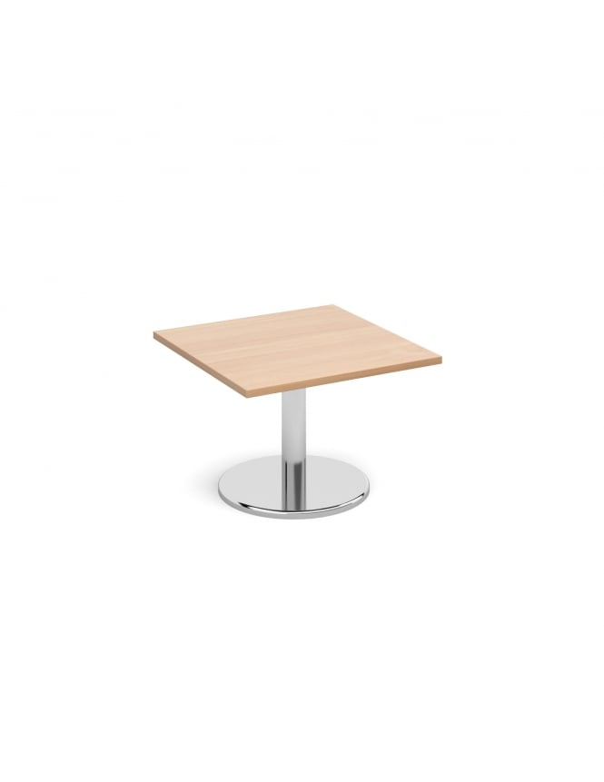 Dams Square Coffee Table with Round Chrome Base 700mm