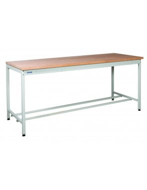 Square Tube Workbench - Solid Beech Worktop - 27mm Thick