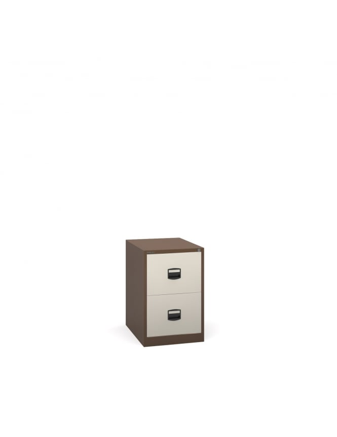 Bisley Steel 2 Drawer Contract Filing Cabinet 711mm