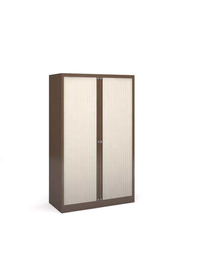 Bisley Steel Half Height Tambour Cupboard
