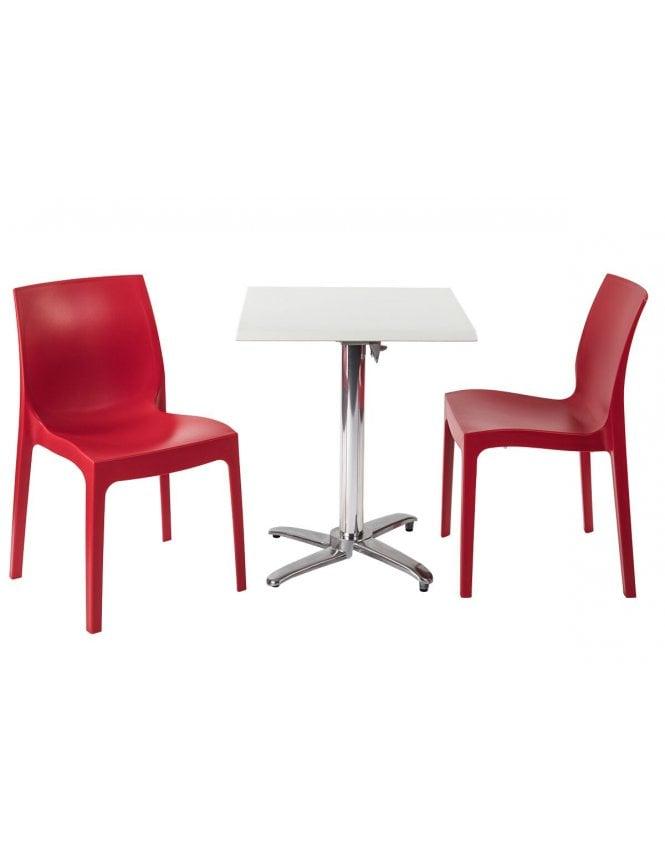 Tabilo Strata Coffee Set with Milano Flip Top Square Table Base