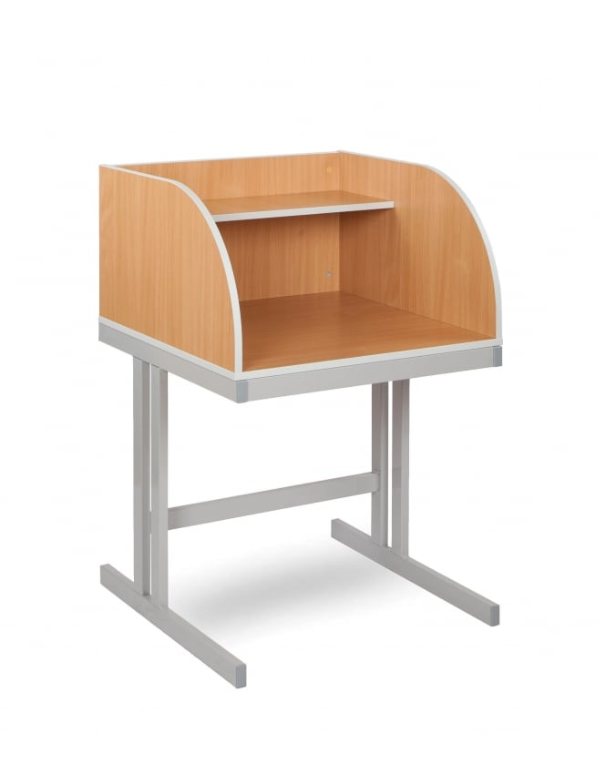 Monarch Furniture Study Carrel with Cantilever Legs