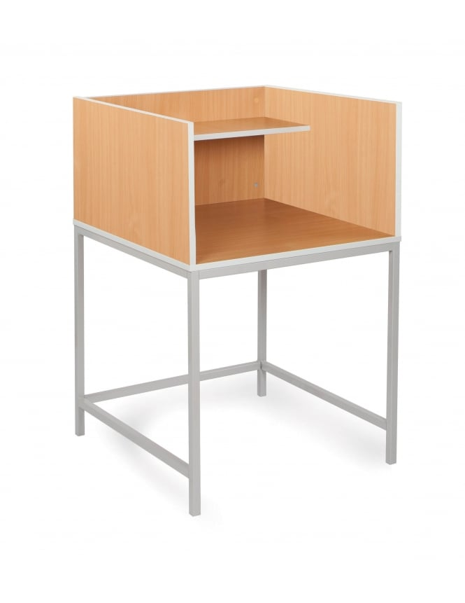 Monarch Furniture Study Carrel with Straight Legs