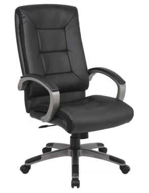 Tanzanite Black Executive Leather High Back Chair
