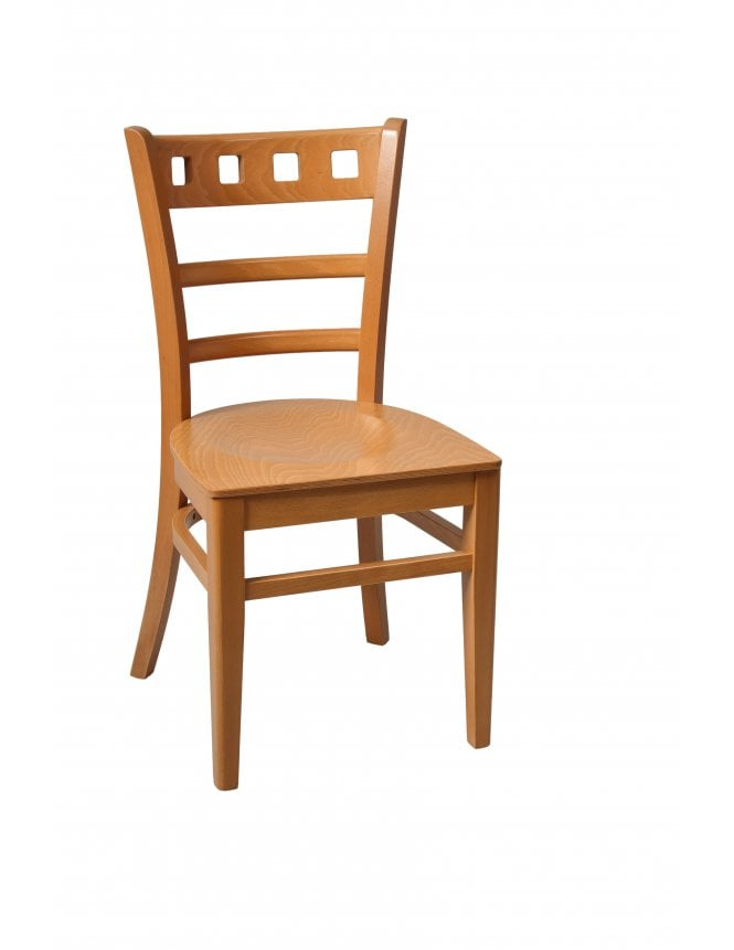 Tabilo The Enzo with Wooden Seat Side Chair