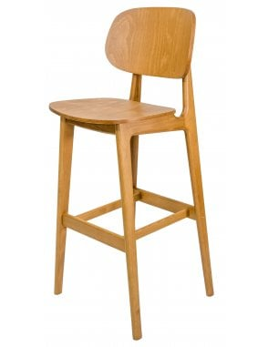 The Garda Bar Chair with Veneer Seat