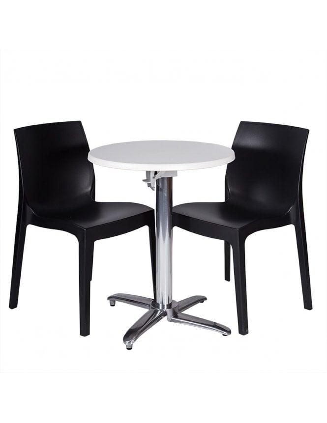 Tabilo The Strata Coffee Set with Milano Flip Top Table Base