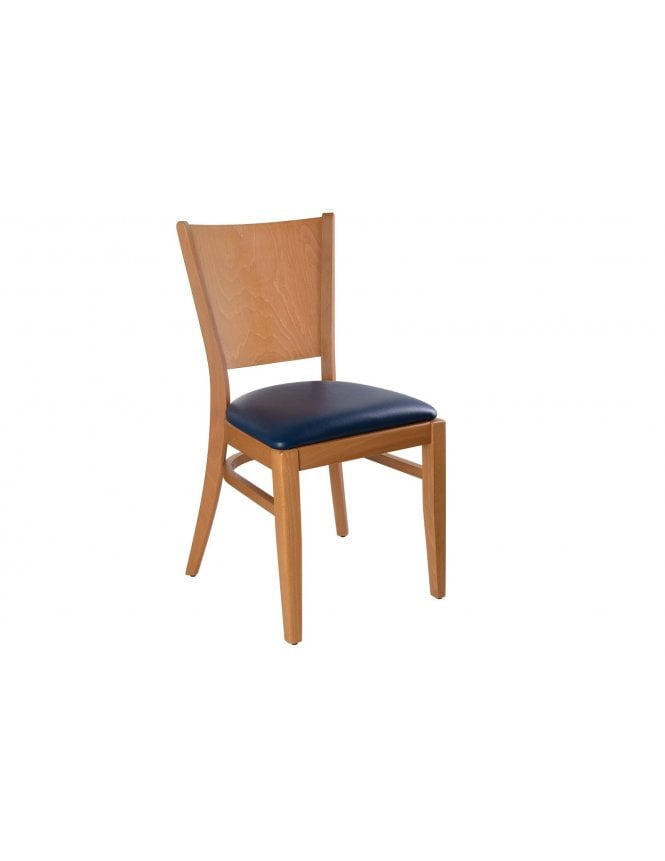 Tabilo The Vienna Stackable Side Chair with Seren Faux Leather Seat Pad