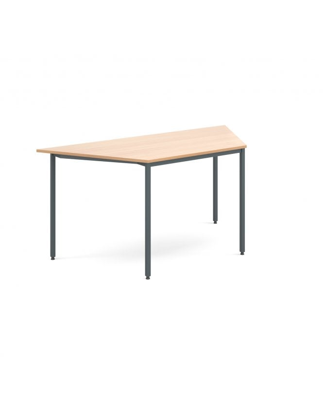 Dams Trapezoidal Flexi Table with Graphite Frame 1600mm x 800mm