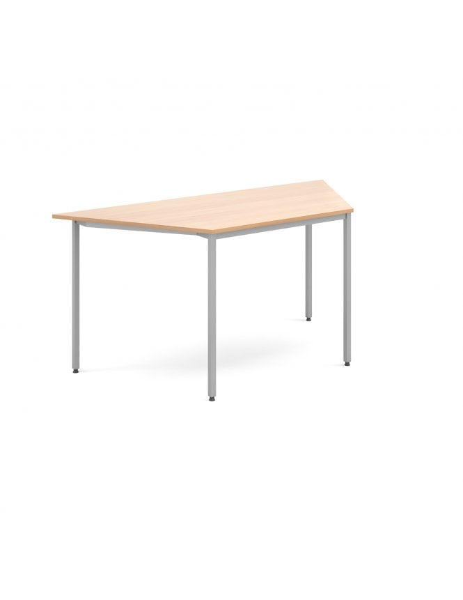 Dams Trapezoidal Flexi Table with Silver Frame 1600mm x 800mm