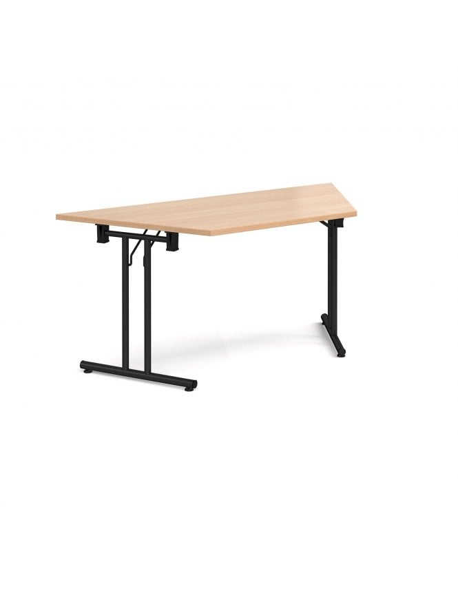 Dams Trapezoidal Folding Leg Table with Straight Foot Rails 1600mm x 800mm