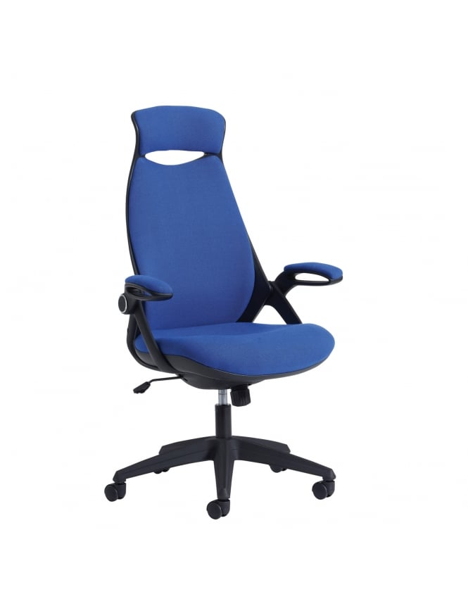 Dams Tuscan High Back Fabric Managers Chair with Head Support