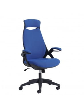 Tuscan High Back Fabric Managers Chair with Head Support