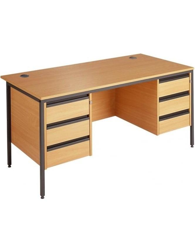 Dams Value Desk with 2 & 3 Drawer Pedestals
