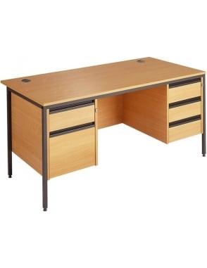 Value Desk with 2 & 3 Drawer Pedestals
