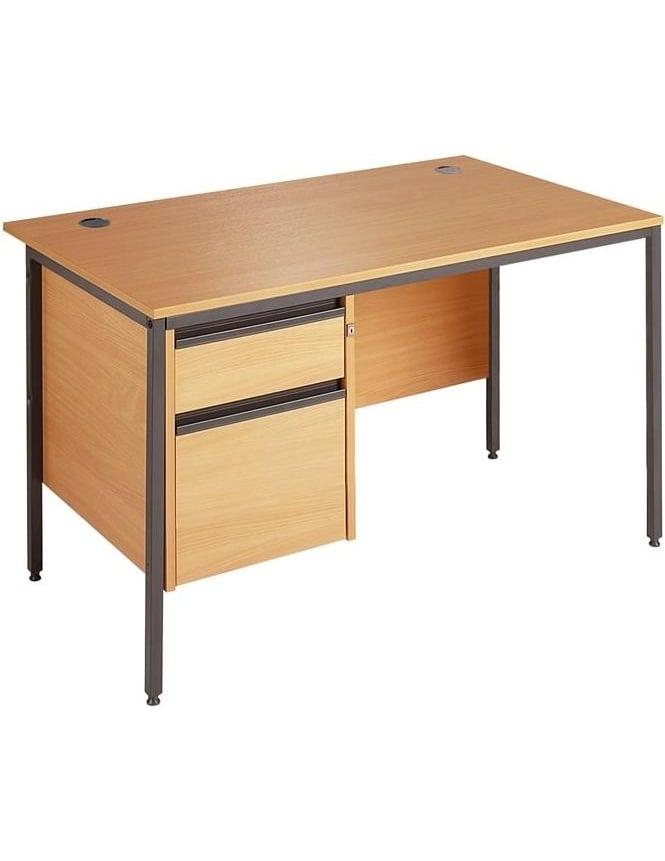 Dams Value Desk with 2 Drawer Pedestal