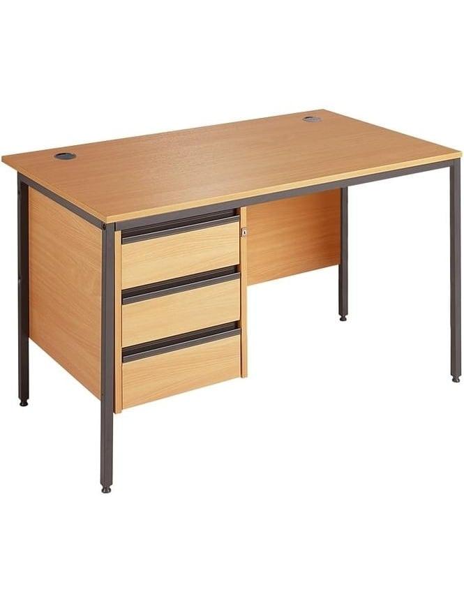 Dams Value Desk with 3 Drawer Pedestal