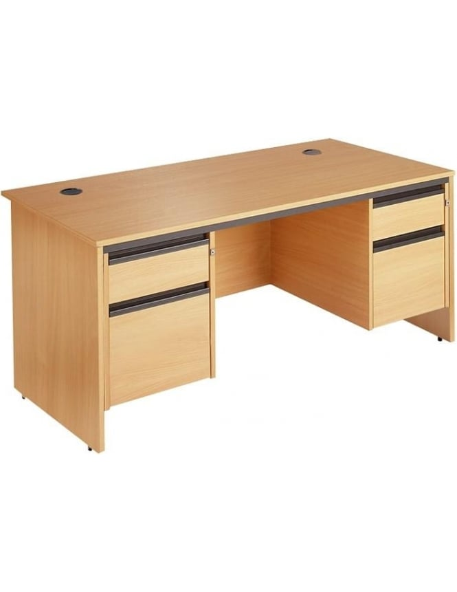 Dams Value Panel Desk with 2, 2 Drawer Pedestals
