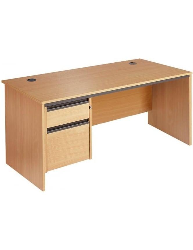 Dams Value Panel Desk with 2 Drawer Pedestal