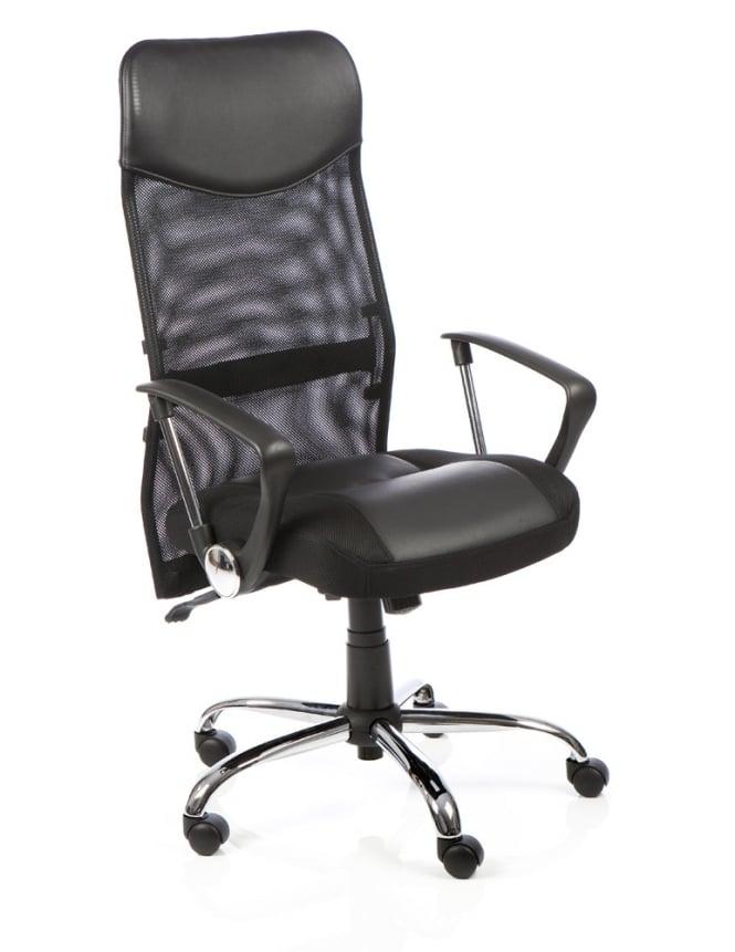 Dynamic Furniture Vegas Executive Black Leather Mesh Chair