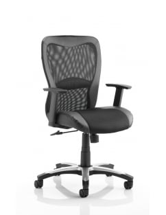 Victor Executive Black Leather Mesh Chair