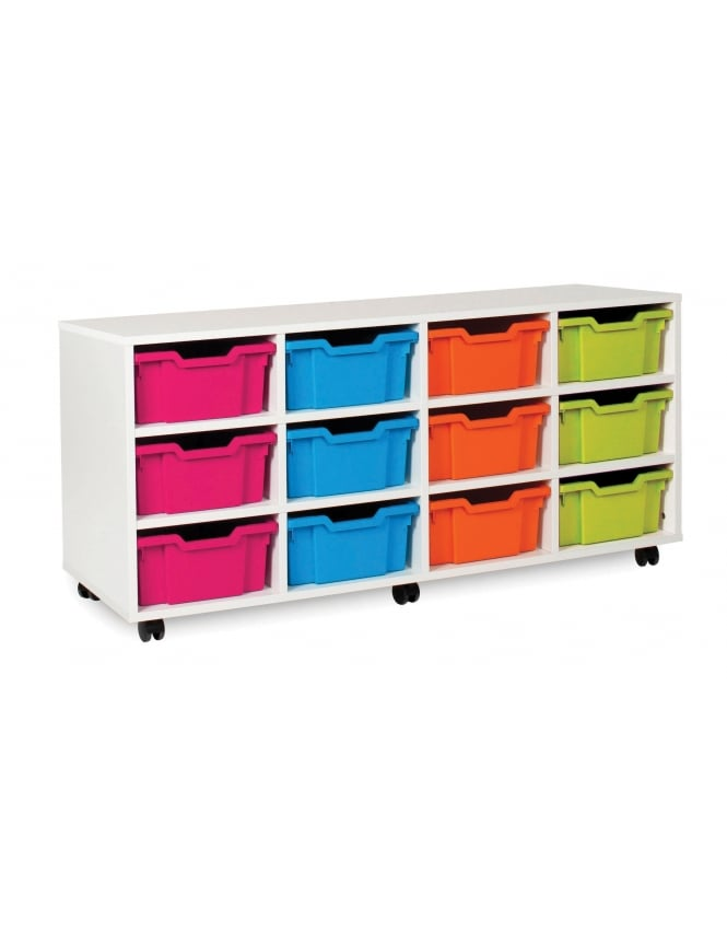 Monarch Furniture White Deep Tray Storage Unit