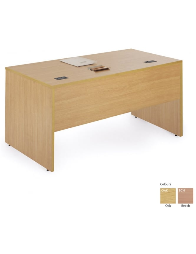 Woodstock Leabank Workmode Narrow Rectangular Desk with Panel Ends
