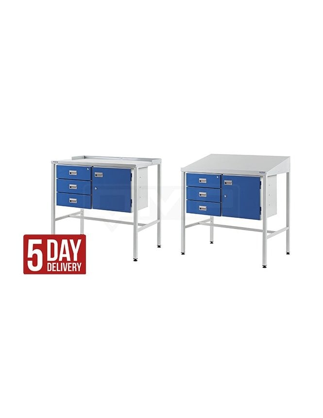 QMP Workstation with Triple Drawer & Cupboard