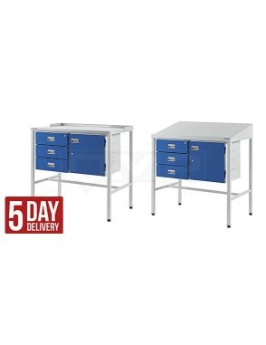 Workstation with Triple Drawer & Cupboard