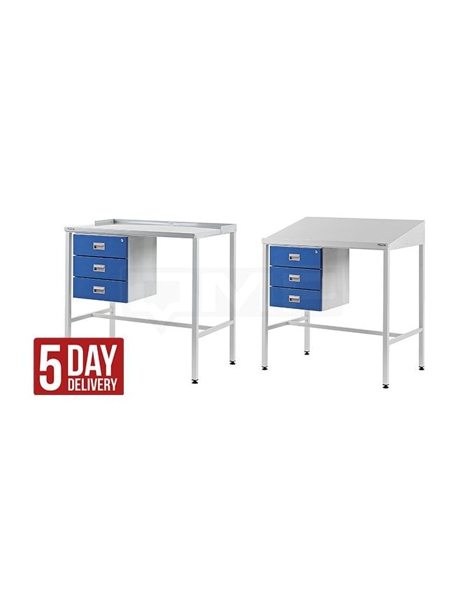 QMP Workstation with Triple Drawer