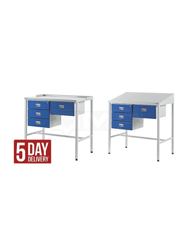 QMP Workstation with Triple Drawer & Single Drawer