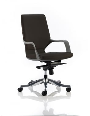 Xenon Executive Leather Black Medium Back Chair