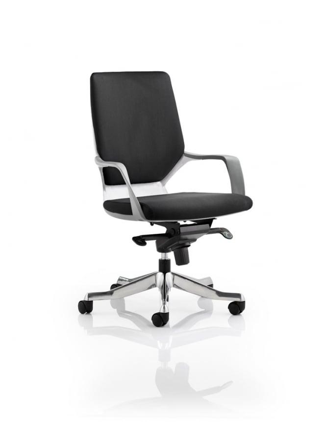 Dynamic Furniture Xenon Executive Medium Back White Chair