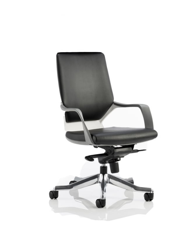 Dynamic Furniture Xenon Executive White Medium Back Leather  Chair