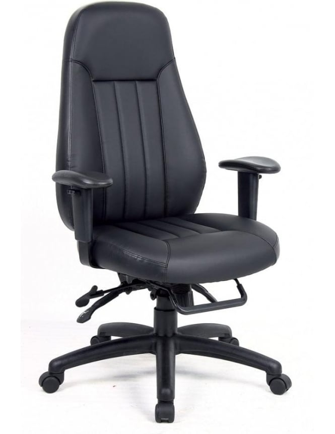 Dams Zeus 24hr Leather Faced Task Chair