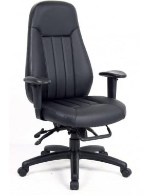 Zeus 24hr Leather Faced Task Chair