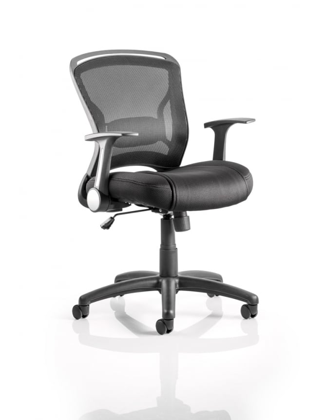 Dynamic Furniture Zeus Task Operator Black Fabric Mesh Back Chair