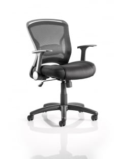 Zeus Task Operator Black Fabric Mesh Back Chair