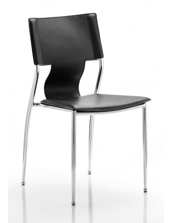 Dynamic Furniture Zulu Visitor Black Hard PVC Chair