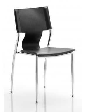 Zulu Visitor Black Hard PVC Chair